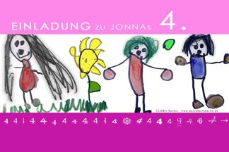 Einladung 4. Geburtstag Jonna